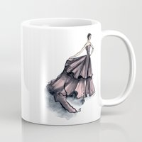 givenchy Mugs featuring Audrey Hepburn in Pink dress vintage fashion by Notsniw
