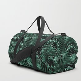 Tropical Palm Leaf Jungle Night #1 #tropical #decor #art #society6 Duffle Bag