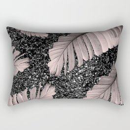 Banana Leaves Glitter Glam #4 #shiny #tropical #decor #art #society6 Rectangular Pillow
