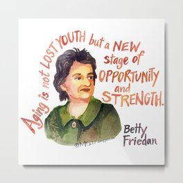 Betty Friedan by dotsofpaint studios Metal Print