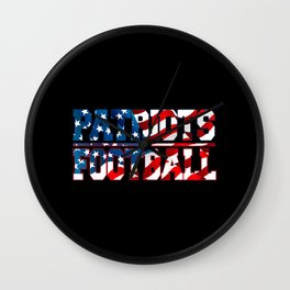 Patriots American Football Wall Clock
