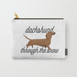 Dachshund Through the Snow Carry-All Pouch