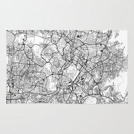 Kuala Lumpur Map Gray Rug