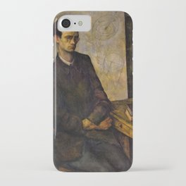 13,000px,600dpi-Diego Rivera - The Mathematician - Digital Remastered Edition iPhone Case