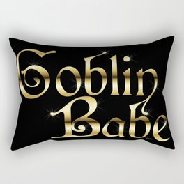 Labyrinth Goblin Babe (black bg) Rectangular Pillow