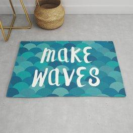 Mermaids Make Waves Rug