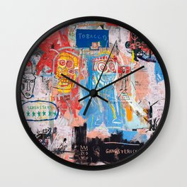 Basquiat Style 2 Wall Clock