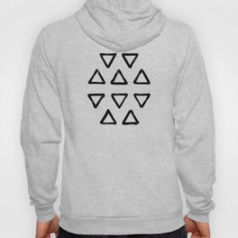 Black ink brushed triangles pattern with textured neutral background Hoody