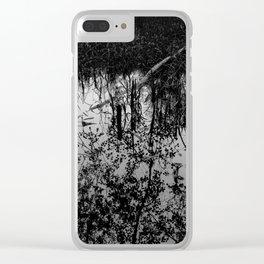 Monochrome Marshland Clear iPhone Case