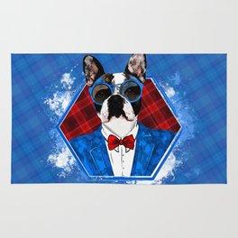 Hipster French Bulldog -Frenchie Rug