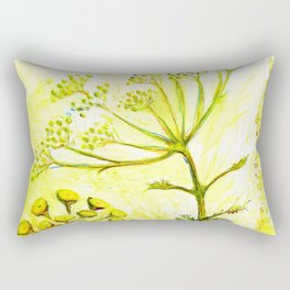 Tansy and Great mullein Rectangular Pillow