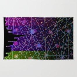 A Futurist's Starry Night Rug