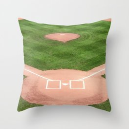 Baseball field Throw Pillow
