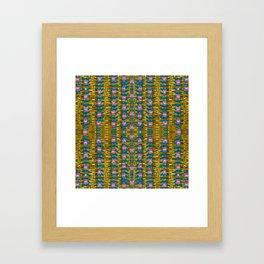 gold jungle and paradise liana flowers Framed Art Print