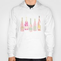 champagne Hoodies featuring Champagne Everyday by Angela Stevens