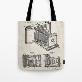 Folding Camera Patent - Photography Art - Antique Tote Bag