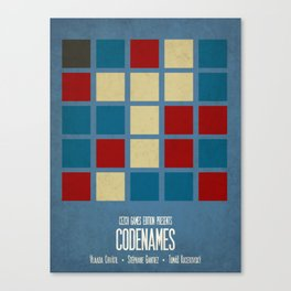 Codenames (Blue) - Minimalist Board Games 05A Canvas Print