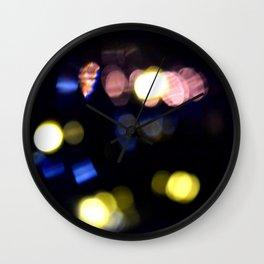 Black bokeh Wall Clock