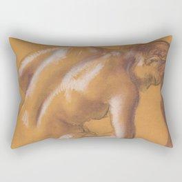 Edgar Degas - Nude lady. Bather Drying Herself Rectangular Pillow