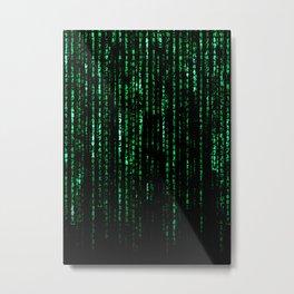 The Matrix Code Metal Print