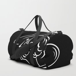 Abstract retro portrait of man Duffle Bag