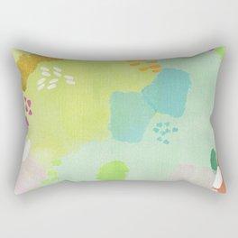 Bright Paints + Gold Rectangular Pillow