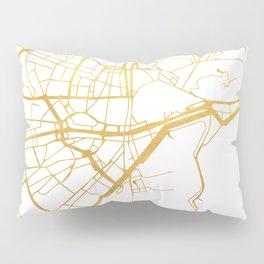 MALAGA SPAIN CITY STREET MAP ART Pillow Sham