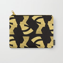 -BEQUEEN IN GOLD Carry-All Pouch