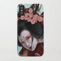 sakura iPhone & iPod Cases featuring Sakura by Claudia SGI