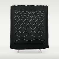 between waves Shower Curtain
