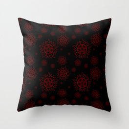 Anti Possession Pattern Red Glow Throw Pillow