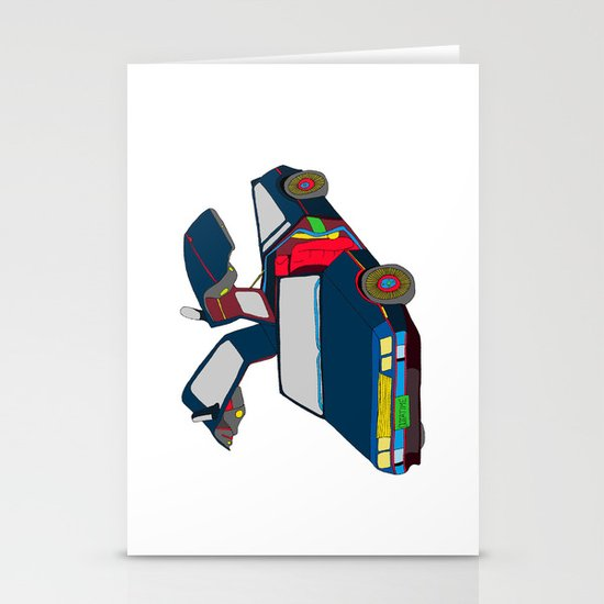 Cool Boys Like Flying Cars Stationery Cards