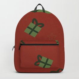 Gifts and stars - red and green Backpack