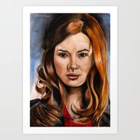 amy pond Art Prints featuring Amy Pond by Hannah D