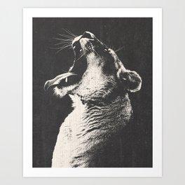 The Lioness Art Print