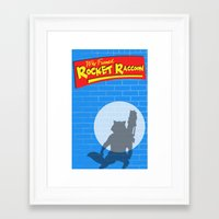 rocket raccoon Framed Art Prints featuring Who Framed Rocket Raccoon? by AnthemTheFaux