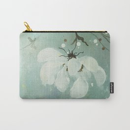 White flower 3 Carry-All Pouch