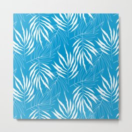Ash Tree Leaves Scandinavian Pattern Metal Print