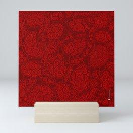 Microscopic cells - shade of red Mini Art Print