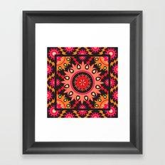 Ethnic asian ornament Framed Art Print