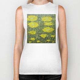 Yellowish greenish grass flowers.? Biker Tank