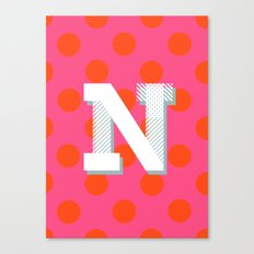 N is for Nice Canvas Print
