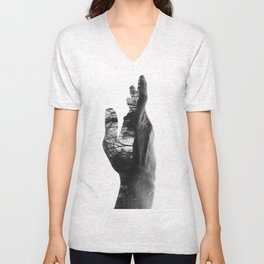 Reach the hand.  Unisex V-Neck