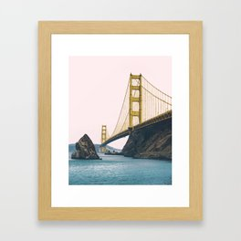 Golden, Golden Gate Bridge Framed Art Print