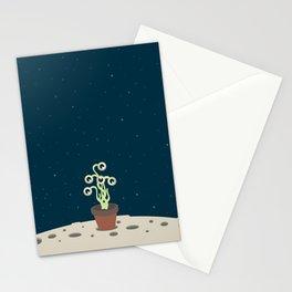 Flowerpot moon Stationery Cards