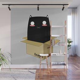 Black Cat in a Box Wall Mural