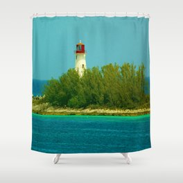 Lighthouse by the Ocean Shower Curtain