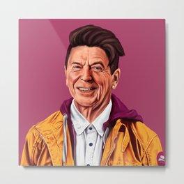 Hipstory - Ronald Reagan Metal Print
