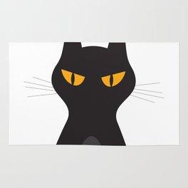 Halloween Vampire Cat Portrait Rug