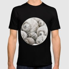 Shark's eye shell collection MEDIUM Black Mens Fitted Tee